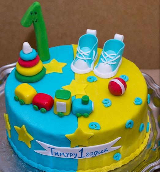 Детский торт из мастики для мальчика своими руками фото рецепт 12