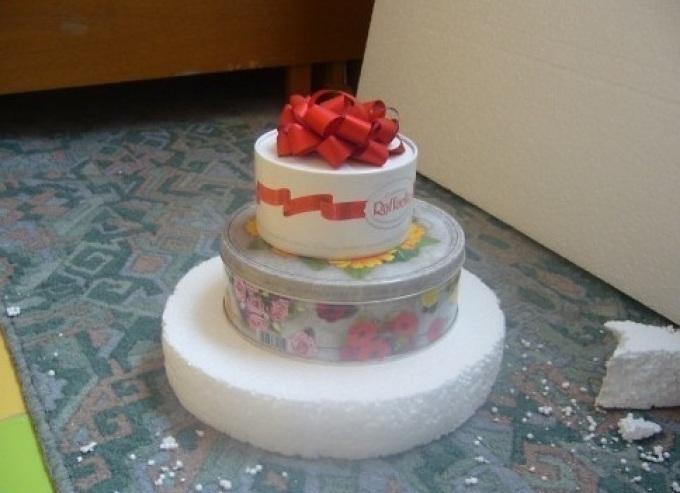 Муляж торта из пенопласта своими руками