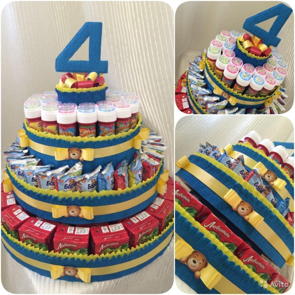 Сделать торт из сладостей своими руками 86