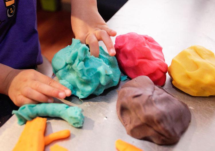 Как сделать разноцветное тесто 615